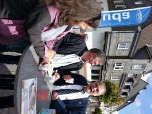 Der Bürgermeister von Radevormwald Herr Mans nahm sich auch Zeit für ein nettes Gespräch!